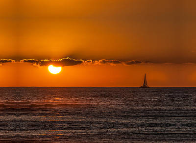 Photograph - Sunset Sailing by Paul Johnson