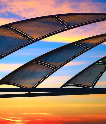 Photograph - Sunset Sails Redondo Pier by Michael Hope