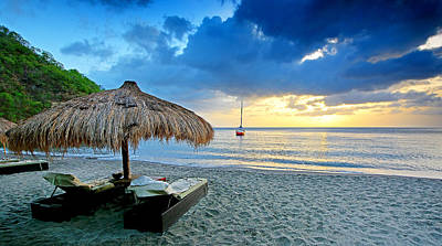 Saint Lucia Photograph - Sunset - Saint Lucia Style by Brendan Reals