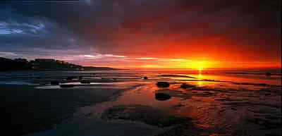 Sunset Saltburn N England Art Print