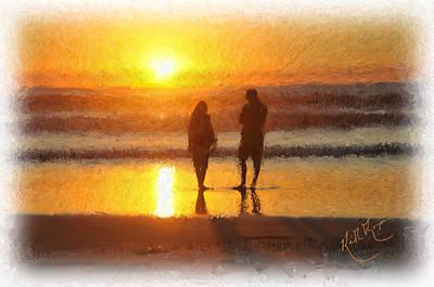 San Diego Artist Digital Art - Sunset San Diego Usa by Keith Thompson