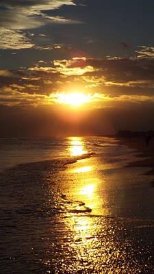 Sunset  Sand  Waves Art Print