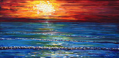 Painting - Sunset Saunton Sands I by Pete Caswell