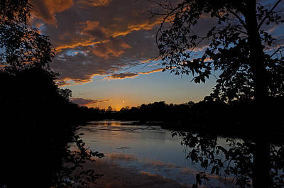 Photograph - Sunset Scene At The River by Celso Bressan