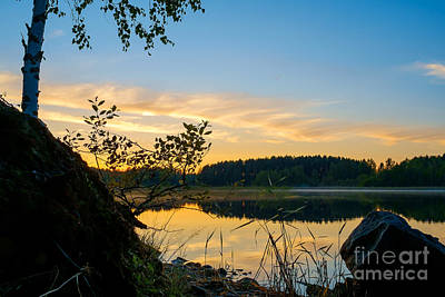 Photograph - Sunset Scenery In Kangaslampi /finland by Ismo Raisanen