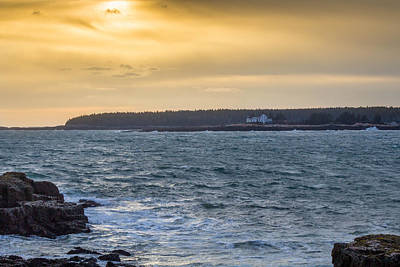 Art Print featuring the photograph Sunset Schoodic Peninsula by Trace Kittrell