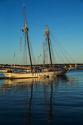 Photograph - Sunset Schooner by Karol Livote
