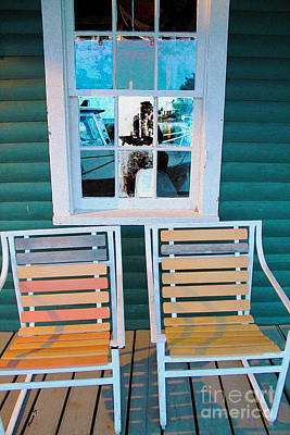 Photograph - Sunset Seating by Nina Silver