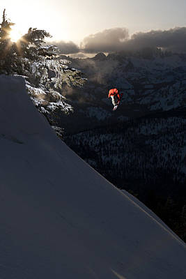 Snowboarding Photograph - Sunset Sender by Kevin Westenbarger