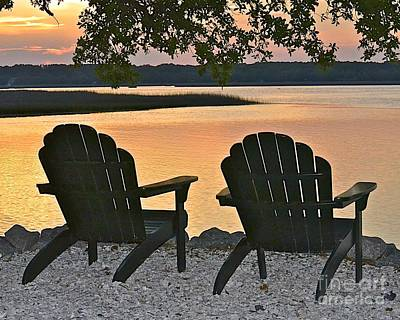 Art Print featuring the photograph Sunset Serenity by Carol  Bradley