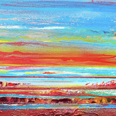 Mixed Media - Sunset Series Druridge Bay 1c by Mike   Bell