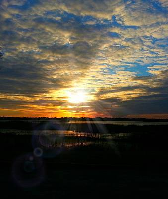 Photograph - Sunset Sets Off Cloud Explosion by Joetta Beauford