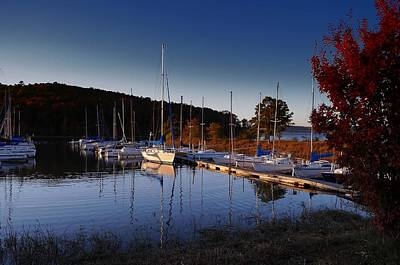 Photograph - Sunset Setting At The Marina by Renee Hardison