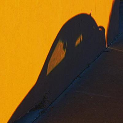 Art Print featuring the photograph Sunset Shadow Car by John Hansen