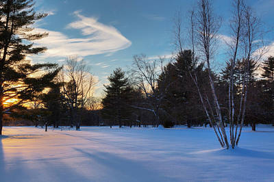 Connecticut Landscape Photograph - Sunset Shadows by Bill Wakeley