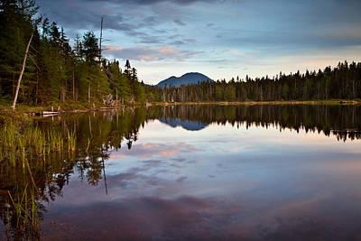 Photograph - Sunset Shoal Pond Pemigewasset Wilderness by Benjamin Dahl