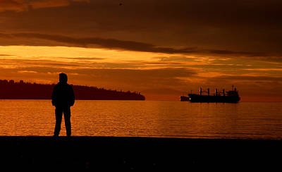 Photograph - Sunset Silhouette by Brian Chase