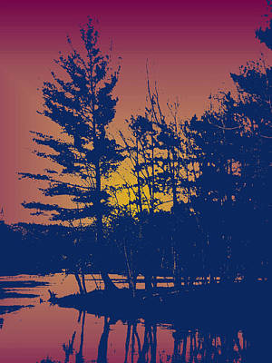 Digital Art - Sunset Silhouette by Larry Capra
