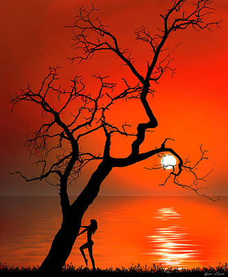 Digital Art - Sunset Silhouettes by Igor Zenin