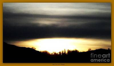 Photograph - Sunset Silouhette by Bobbee Rickard