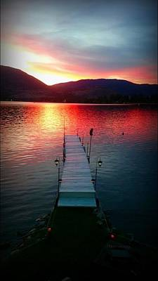 Photograph - Sunset Skaha Lake Fineart by Guy Hoffman