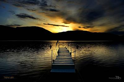 Sunset Skaha Lake Art Print