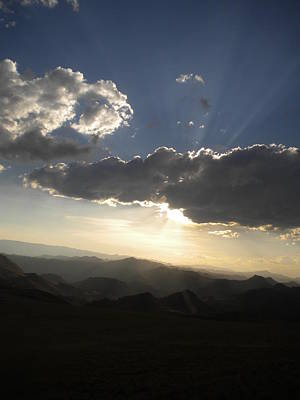 Photograph - Sunset Skies Over The Andes by Artistic Indian Nurse