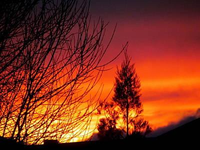 Sunset Sky . Art Print by Joyce Woodhouse