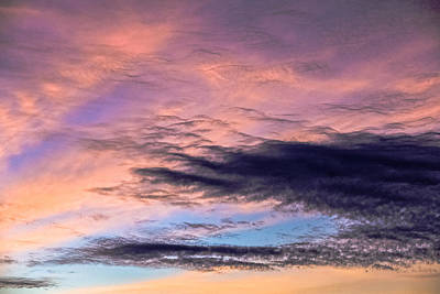 Photograph - Sunset Sky Abstract by Ronda Broatch