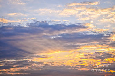 Turbulent Skies Photograph - Sunset Sky by Elena Elisseeva