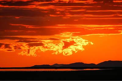 Sunset Sky Fire Art Print by Kirk Strickland