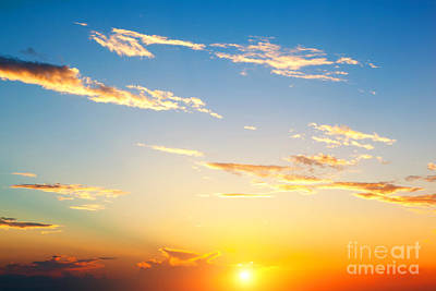 Beam Photograph - Sunset Sky Perfect Background by Michal Bednarek