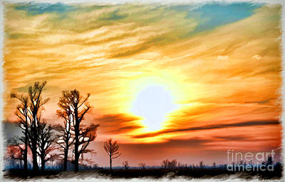 Photograph - Sunset Sky  So Mo  Digital Paint by Debbie Portwood