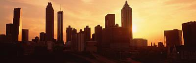 Sunset Skyline, Atlanta, Georgia, Usa Print by Panoramic Images