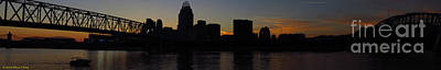 Mary King Photograph - Sunset Skyline Cincinnati by Mary  King
