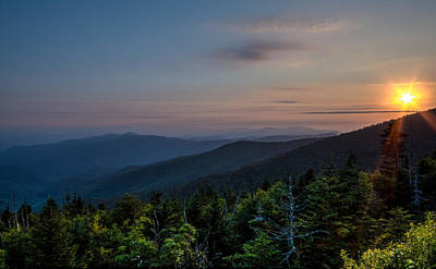 Sunset Smokey Mountains  Art Print