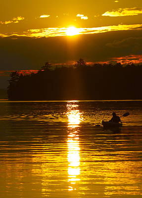 Art Print featuring the photograph Sunset Solitude  by Alice Mainville