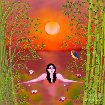 Sunset Songs Art Print by Latha Gokuldas Panicker