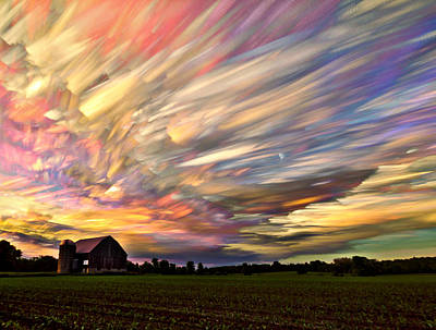 Field. Cloud Photograph - Sunset Spectrum by Matt Molloy