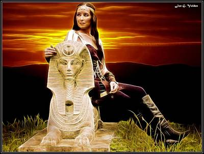 Painting - Sunset Sphinx by Jon Volden