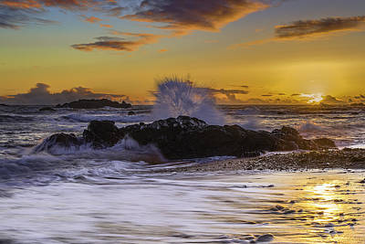 Photograph - Sunset Splash by PhotoWorks By Don Hoekwater