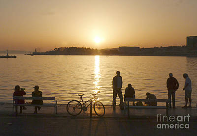 Photograph - Sunset - Split - Croatia by Phil Banks