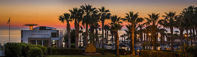Photograph - Sunset St George Hotel Paphos Cyprus by Alex Saunders