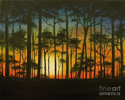 Painting - Sunset Over St. Joseph's Peninsula by Lora Duguay
