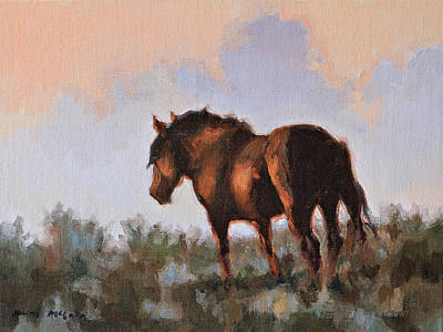 Painting - Sunset Stallion by Karen McLain
