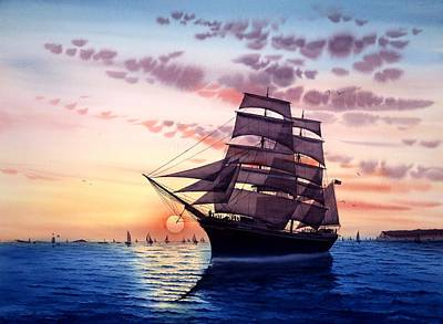 Star Of India Painting - Sunset Star Of India by John YATO