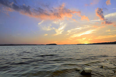 Percy Priest Lake Photograph - Sunset by Steven Michael