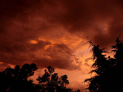 Photograph - Sunset Storm Brewing by Thomas Samida