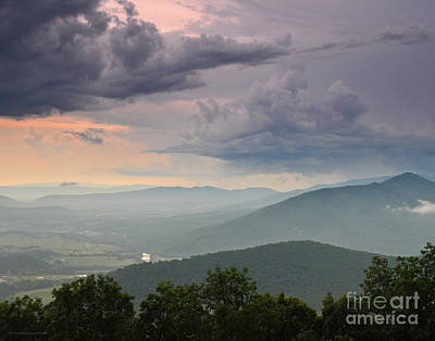 Photograph - Sunset Storm On The Mountain Blue Ridge Parkway by Schwartz Nature Images