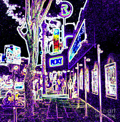 Mixed Media - Sunset Strip - Black Light Psychedelic by Alicia Hollinger
